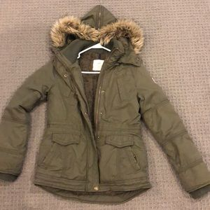 Forest green American eagle winter coat